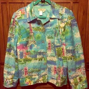 Coldwater Creek Jacket in Paris print